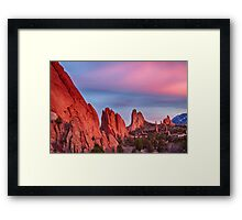 Garden of the Gods Sunset View Framed Print