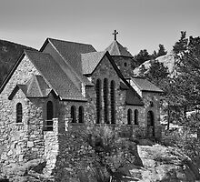 St Malo Chapel On the Rock Colorado BW by Bo Insogna