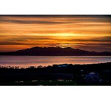 Sunset over Arran Photographic Print