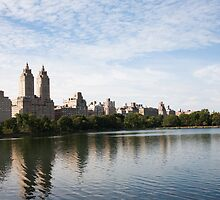 NYC's San Remo Across the Jackie Onassis Reservoir by W. Lotus