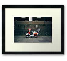 Red and white scooter Framed Print