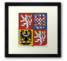 Coat of Arms of Czech Republic  Framed Print