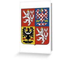Coat of Arms of Czech Republic  Greeting Card