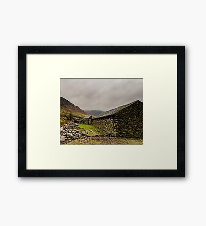 Stone Barn Framed Print