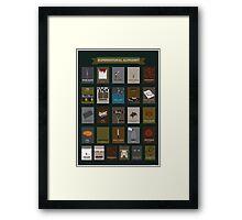 Supernatural Alphabet Framed Print