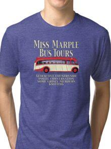 Classic Bus Agatha Christie Tour Tri-blend T-Shirt