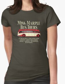 Classic Bus Agatha Christie Tour Womens Fitted T-Shirt