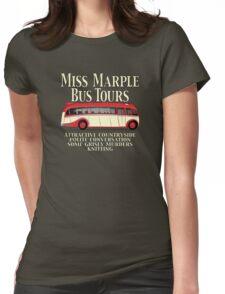 Classic Bus Agatha Christie Tour Womens Fitted T-Shirt