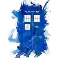 Watercolor TARDIS by fairandbright