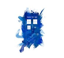 Watercolor TARDIS Photographic Print