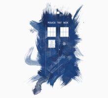 Watercolor TARDIS Kids Tee