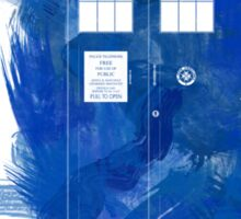 Watercolor TARDIS Sticker