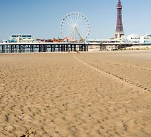 Blackpool Tower and Central Pier by photoeverywhere