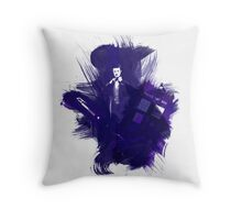 Watercolor Eleventh Doctor Throw Pillow