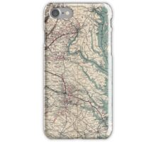 Civil War Maps 1076 Map showing the location of battle fields of Virginia iPhone Case/Skin