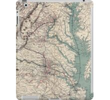 Civil War Maps 1076 Map showing the location of battle fields of Virginia iPad Case/Skin