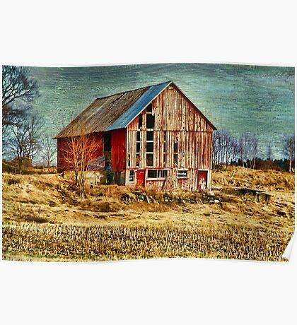 Rural Rustic Vermont Scene Poster