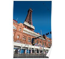 Blackpool amusement arcade and tower Poster