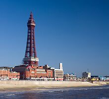 Blackpool Tower and waterfront by photoeverywhere