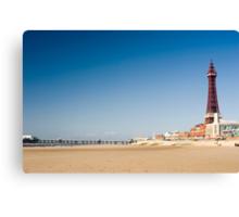 Blackpool beach Canvas Print