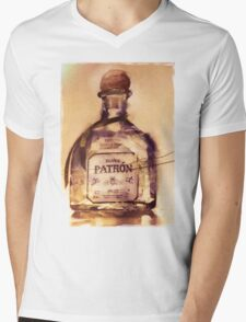 Patrón Silver Mens V-Neck T-Shirt