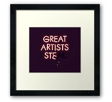 Good Artists Copy Framed Print