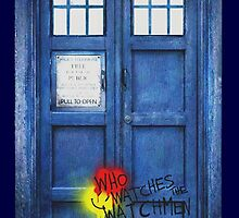 Watchmen graffiti Tardis by Ray van Halen