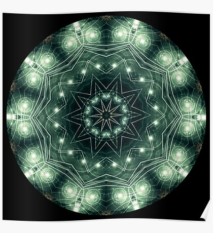 Electric Wire Kaleidoscope Poster