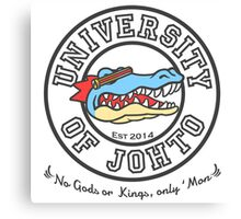 University of Johto - Black Outlines! Canvas Print