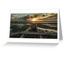 Sun Set Landscape  Greeting Card