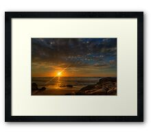 Sunrise over Mollymook Beach Framed Print