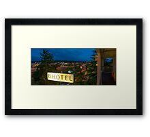 Motel by the highway Framed Print