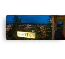 Motel by the highway Canvas Print