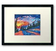 Mountain Sunset - Print from Original Oil Painting Framed Print