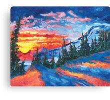 Mountain Sunset - Print from Original Oil Painting Canvas Print