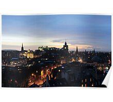 Edinburgh at night Poster