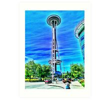Space Needle artwork Art Print