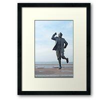 Eric Morecambe statue Framed Print