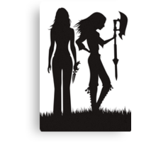 Faith & Buffy Canvas Print