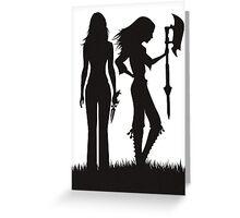 Faith & Buffy Greeting Card