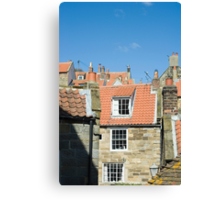 Fishermans cottages Canvas Print
