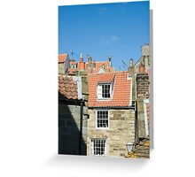 Fishermans cottages Greeting Card