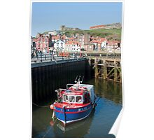 Upper harbour at Whitby Poster