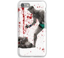 Conor McGregor 13 Second Knock Out of Jose Aldo (blood splatter) iPhone Case/Skin