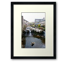 Falls on the River Ure, Hawes, Yorkshire Dales Framed Print