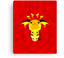 Pokemon - Pikachu's Cute Evolution Canvas Print