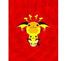 Pokemon - Pikachu's Cute Evolution Photographic Print