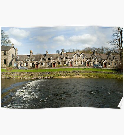 Weir at Kendal on the river Kent Poster