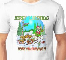 Zombie Santa is here Unisex T-Shirt