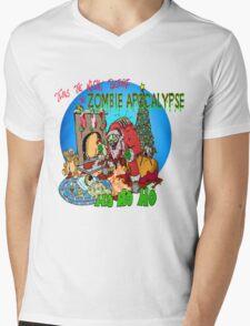 Merry Zombified Christmas Mens V-Neck T-Shirt